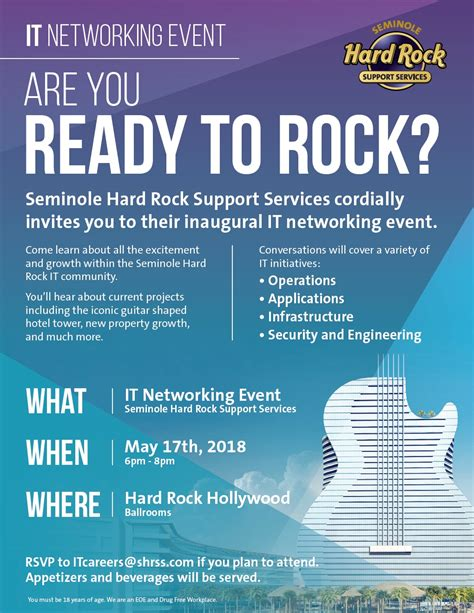 join    seminole hard rock  networking event