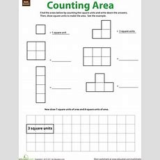 Geometry Counting Area  Worksheet Educationcom