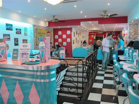 photo vintage diner interior table scene