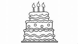 Dessin Gateau Anniversaire : comment dessiner un g teau d 39 anniversaire youtube ~ Melissatoandfro.com Idées de Décoration