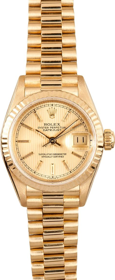 Lady Rolex 18K Gold 69178 - Save on Rolex Watches at Bob's