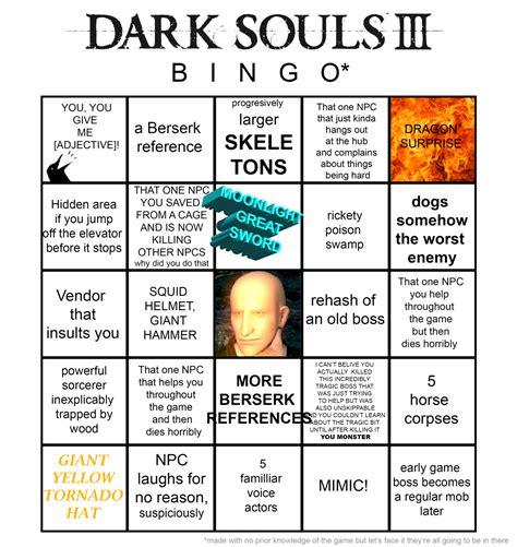 Dark Souls 3 Memes - dark souls 3 bingo dark souls know your meme