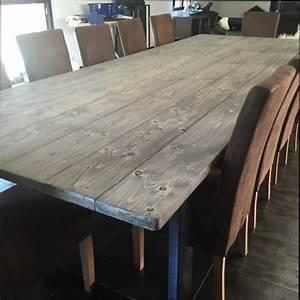 table bois table de salle a manger en bois vieilli With table de salle a manger en bois