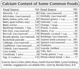 Calcium-Rich Foods Chart