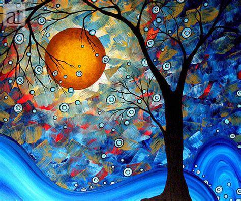 cuadros modernos pinturas y dibujos abstractos figurativos modernos arboles