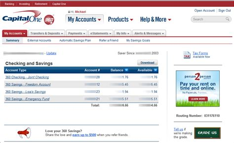 one home banking capital one 360 banking login login bank autos post