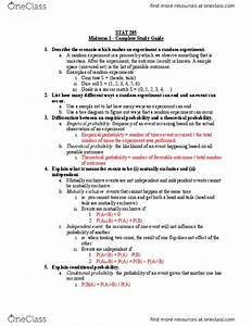 Stat 205 Midterm  Complete Study Guide