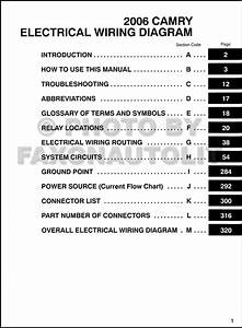 200toyota Camry Wiring Diagram Manual Original