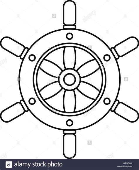 Boat Wheel Outline by Ship Wheel Icon Outline Illustration Of Ship Wheel Vector