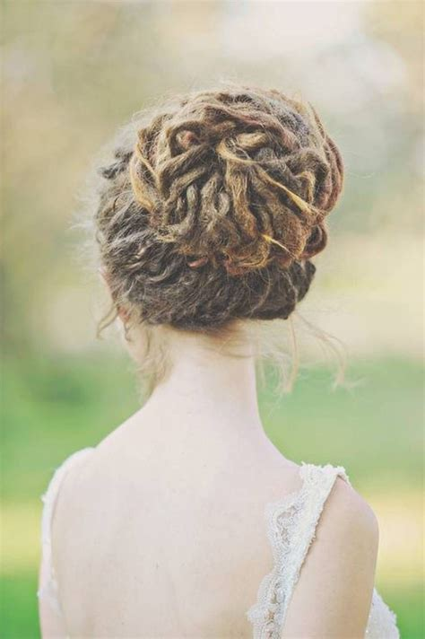 Updo Hairstyles For Dreads by Pretty Bun Dreadlock Hairstyles Wedding Idea S