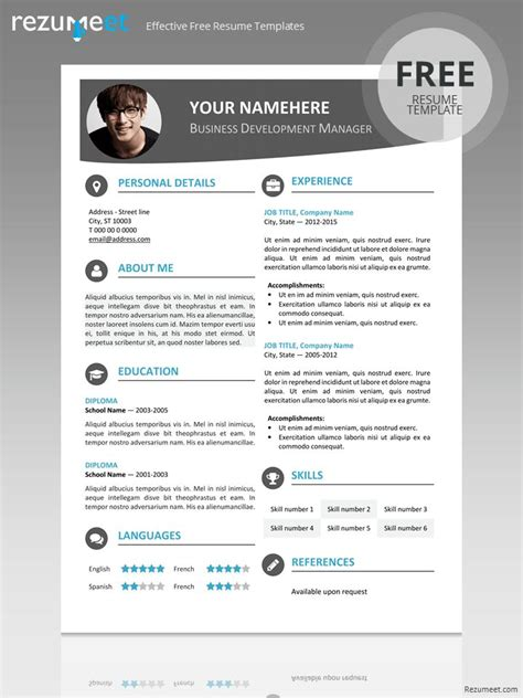 resume cv  powerpoint images  pinterest