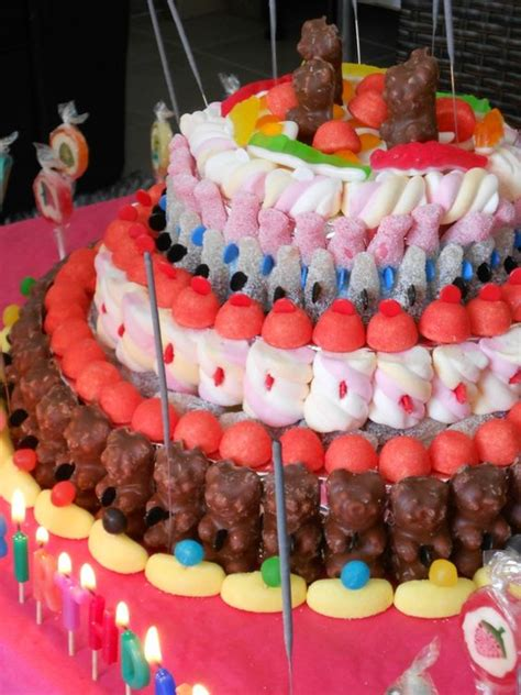 idee decoration gateau avec bonbons sympa