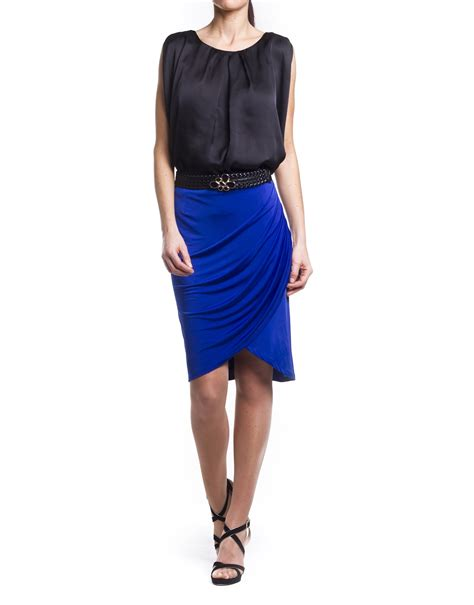 drape front skirt skirt with draped front roberto verino