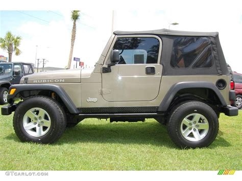 jeep metallic 2003 light khaki metallic jeep wrangler rubicon 4x4