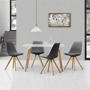 Esstisch Mit 4 Stühlen : esstisch mit 4 st hlen grau gepolstert real ~ Whattoseeinmadrid.com Haus und Dekorationen