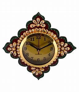 Unique, Indian, Crafts, Assymetric, Analog, Wall, Clock, D, U00e9cor, Watch, 3, X, 18, Cms, Buy, Unique, Indian