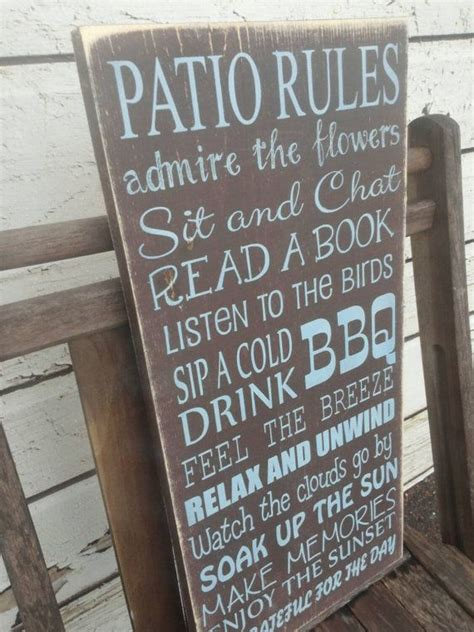 custom backyard signs 25 best ideas about patio signs on backyard