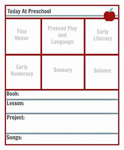 preschool lesson planning template free printables With nursery lesson plan template