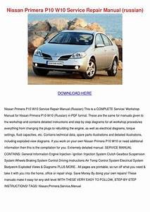 Nissan Primera P10 W10 Service Repair Manual By