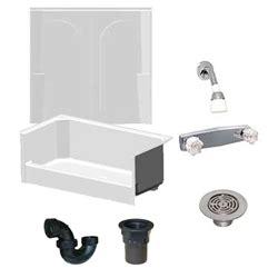 mobile home shower with 2 piece fiberglass surround