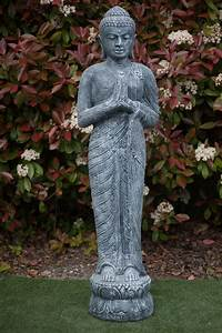 Statue Bouddha Maison Du Monde : statue bouddha debout anjali mudra 150 cm gris ~ Teatrodelosmanantiales.com Idées de Décoration