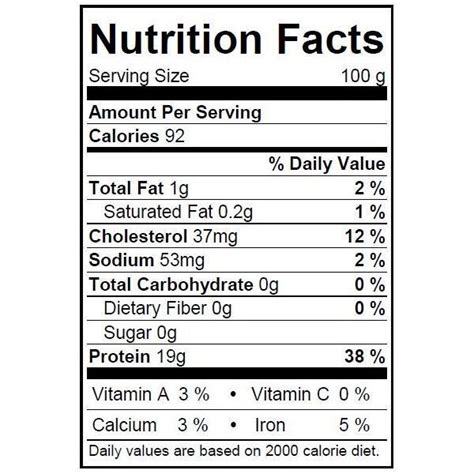 grouper nutrition fish facts nutritional information raw