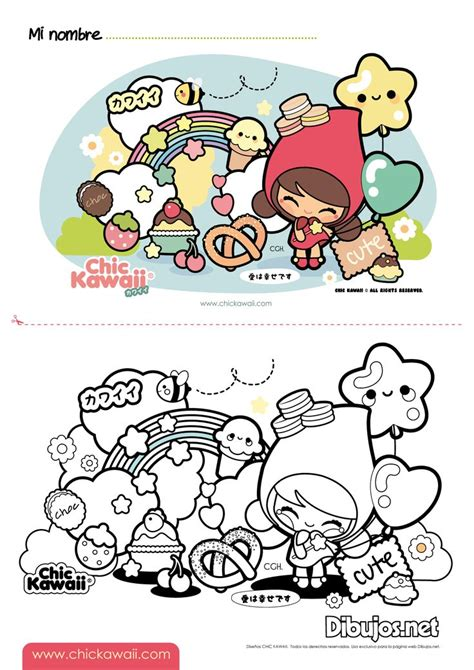 images  nurie kawaii coloring  pinterest