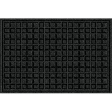 Commercial Doormats by Trafficmaster Black 24 In X 36 In Fiber And Rubber