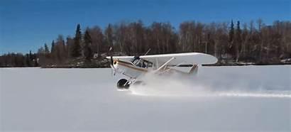 Snow Plane Doing Landing Doughnuts Donuts Funnest