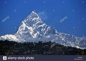 Annapurna mountain range,Nepal. Fish-tail mountain,Pokhara ...