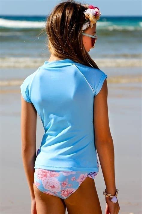 girls rash guard bikini set