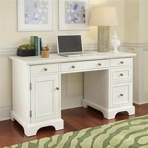 Shop Home Styles Naples White Computer Desk at Lowes com