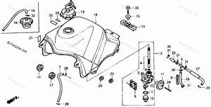Honda Motorcycle 1989 Oem Parts Diagram For Fuel Tank