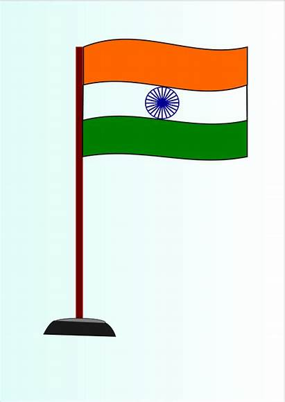 Flag Indian Clipart National India Drawing Clip