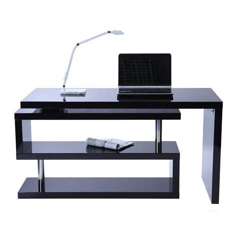 bureau noir laqué bureau design noir laqué amovible max achat vente