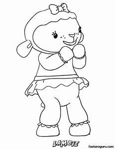 Printable Lambie the Lamb Doc McStuffins Coloring Pages ...