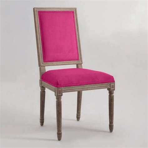 Fuchsia Square Back Paige Dining Chairs Set of 2 Dining
