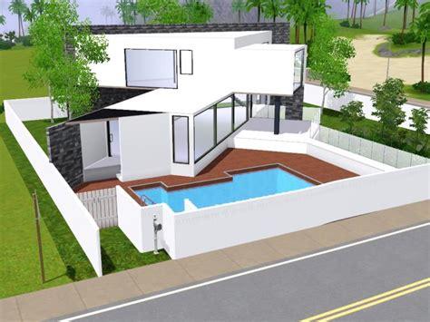 construction maison sims 3 moderne ventana