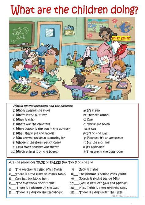 children  worksheet  esl