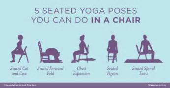 seated yoga poses you can do in a chair green mountain