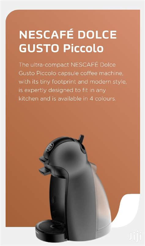 Our company is your number one source for coffee export to; NESCAFE DOLCE GUSTO Piccolo Coffee Machine Titanium 1600W in Kampala - Kitchen Appliances, Keith ...