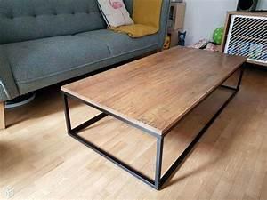 Table Basse Grande Taille : grande table salon table basse salon blanche id e pour ~ Teatrodelosmanantiales.com Idées de Décoration