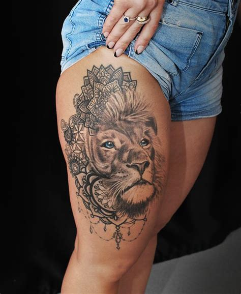 mandala lion tattoo ideas  pinterest mandala