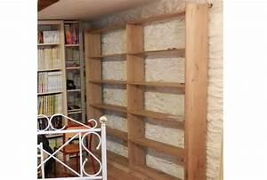 Bibliotheque Chene Massif : r alisation d 39 une biblioth que en bois massif sur mesure avec ~ Teatrodelosmanantiales.com Idées de Décoration