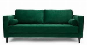canape design en velours vert canape 3 places faye With canape 3 places h h