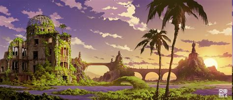 Anime Landscape Wallpaper - anime landscape wallpapers hd desktop and