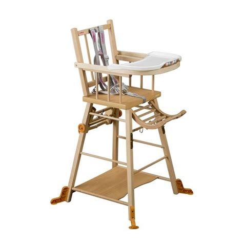 chaise haute transformable 224 barreaux vernis naturel combelle chaises hautes pour b 233 b 233