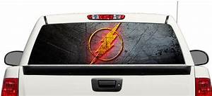 product flash dc comics movies rear window decal sticker With kitchen cabinets lowes with ford truck window sticker