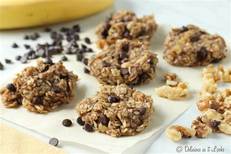 The recipe calls for way fewer oats than most, which, strangely, makes for much better oatmeal cookies. No Added Sugar Banana Oat Cookies - Delicious as it Looks