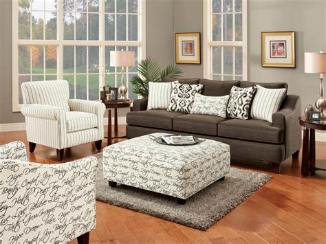 Pewter Living Room : Fusion Living Room Set In Odin Pewter